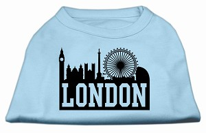 London Skyline Screen Print Shirt Baby Blue XS (8)